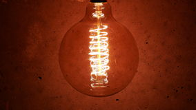 Vintage Retro Edison Lamp Light Bulb stock footage