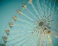 Vintage Retro Ferris Wheel Detail Stock Image