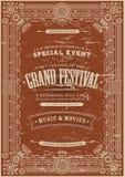 Vintage Retro Festival Poster Background Royalty Free Stock Photos