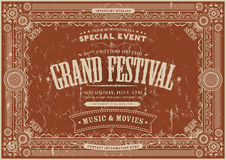 Vintage Retro Festival Poster Background Royalty Free Stock Images