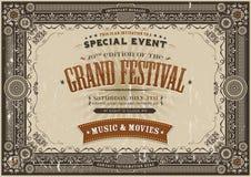 Vintage Retro Festival Poster Background vector illustration