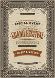 Vintage Retro Festival Poster Background stock illustration
