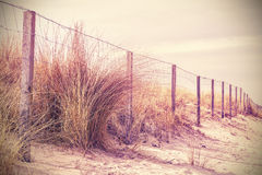 Vintage retro filtered photo of a dune. Royalty Free Stock Photography