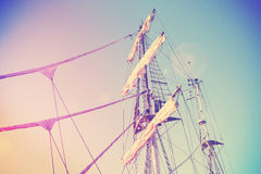 Vintage retro filtered picture of a mast. Stock Images