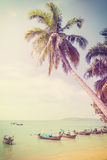 Vintage retro filtered picture of tropical beach Stock Photography