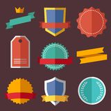 Vintage, retro flat badges, labels Royalty Free Stock Photos