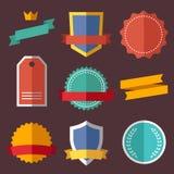 Vintage, retro flat badges, labels Royalty Free Stock Photos