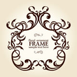 Vintage retro floral frame ornament Stock Photo