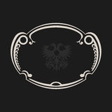 Vintage retro frame. Abstract black background. Vector illustration Royalty Free Stock Images