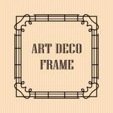 Art Deco Frame. Vintage retro frame in Art Deco style. Template for design Stock Illustration