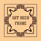 Art deco frame. Vintage retro frame in Art Deco style. Template for design Stock Photography