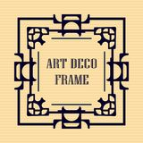 Art deco frame. Vintage retro frame in Art Deco style. Template for design Royalty Free Stock Photography