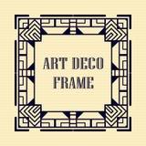 Art deco frame. Vintage retro frame in Art Deco style. Template for design Stock Images