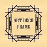 Art deco frame. Vintage retro frame in Art Deco style. Template for design Stock Image