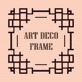 Art deco frame. Vintage retro frame in Art Deco style. Template for design Royalty Free Stock Images