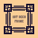 Art deco frame. Vintage retro frame in Art Deco style. Template for design Royalty Free Stock Photos