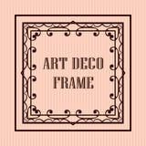 Art deco frame. Vintage retro frame in Art Deco style. Template for design Stock Photos