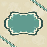 Vintage retro frame. On blue grunge background vector illustration