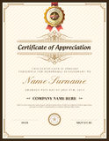 Vintage retro frame certificate background template Royalty Free Stock Photography
