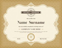 Vintage retro frame certificate background template Royalty Free Stock Photos