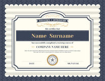 Vintage retro frame certificate background template Stock Photos