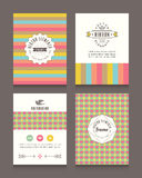 Vintage retro frames and backgrounds Design Template Royalty Free Stock Images