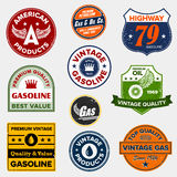 Vintage retro gas signs Stock Images