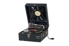 Vintage retro gramophone isolated on white Royalty Free Stock Photography