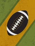 Vintage Retro Grunge American Football Background Illustration Royalty Free Stock Images