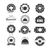 Vintage retro grunge coffee and restaurant labels, badges and ic Royalty Free Stock Image