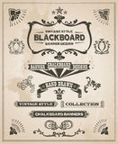 Vintage retro hand drawn banner set Royalty Free Stock Images