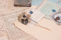 Vintage retro handwriting papers Royalty Free Stock Images