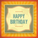 Vintage retro happy birthday card Royalty Free Stock Images
