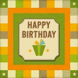 Vintage retro happy birthday card Royalty Free Stock Image