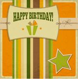 Vintage retro happy birthday card. Vector Illustration Royalty Free Stock Photography