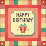 Vintage retro happy birthday card Royalty Free Stock Photos