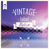 Vintage retro hipster label, typography, geometric design elemen Royalty Free Stock Images