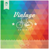 Vintage retro hipster label, typography, geometric design Royalty Free Stock Photo