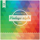 Vintage retro hipster label, typography, geometric design Royalty Free Stock Images