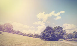 Vintage retro hipster style nature background. Royalty Free Stock Images