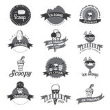 Vintage Retro Ice Cream Badges And Labels. Royalty Free Stock Photos