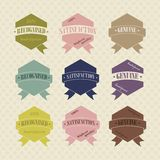 Vintage Retro Icons And Labels Royalty Free Stock Images