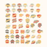 Vintage Retro Icons And Labels Royalty Free Stock Photos