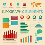 Vintage retro infographics elements Royalty Free Stock Images