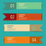 Vintage retro infographics options banner set. Royalty Free Stock Image