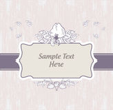 Vintage retro invitation card Stock Images