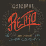 Vintage retro label. Grunge effect.Typography print design for t-shirts Royalty Free Stock Images