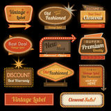 Vintage retro label signs Royalty Free Stock Photo