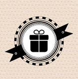 Vintage retro label | tag | badge : gift icon Stock Image