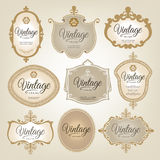 Vintage Retro Labels Stock Image